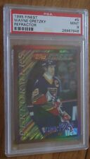 1995-96 Topps Finest Refractors Wayne Gretzky #5 PSA 9 Mint St Louis Blues