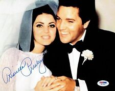 Priscilla Presley w/ Elvis Signed Authentic Autographed 8x10 Photo PSA/DNA #4
