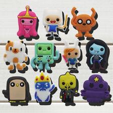 11pcs/lot Adventure Time PVC Shoe Charms Accessories fit in Shoes & Bracelets