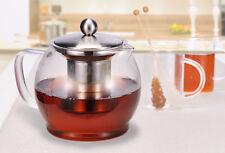 Hi 16029 Glas Teekanne 1 2l mit Edelstahl Filter