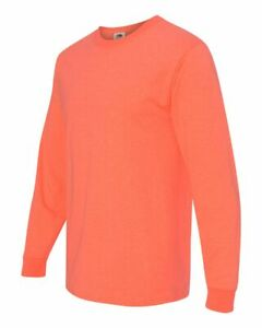 Fruit of the Loom Mens Blank HD Cotton Long Sleeve T Shirt 4930R up to 3XL