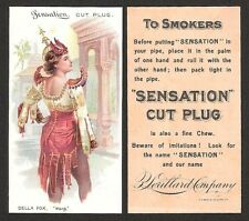 N265 Lorillard Tobacco Card - Sensation Cut Plug Actress - Della Fox Sharp!