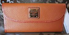 Dooney & Bourke ~Continental Pebble Grain Leather Wallet~ ZR507~CARAMEL~NWT $128