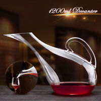 1200ml Swan Shape Wine Bottle Container Lead-free Crystal Glass Red Wine Decor