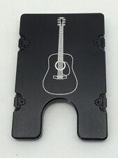 Acoustic Guitar,Billet Vault Aluminum Front Pocket Wallet RFID protection black