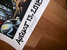 JEFF AMENT SIGNED Pearl Jam Missoula Skullz Tester art print poster LE 100