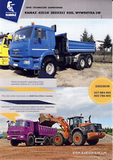 Kamaz 43118 6x6 Tipper Benne 2017 brochure catalogue