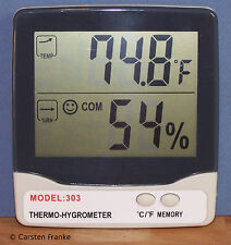 Digital Thermometer Humidity Meter, Hygrometer for Greenhouse & Hydroponics  H3