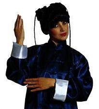 Ladies Kyoto Girl Wig Japanese Geisha Oriental Fancy Dress Black Asian Plaits
