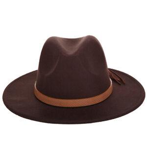 Fashion Men Lady Wool Blend Fedora Panama Hat Wide Brim Casual Outdoor Jazz Cap