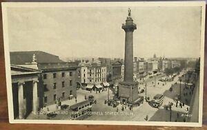 Irish Postcard NELSON PILLAR & GPO O'Connell Laird Dublin Ireland Valentine Eire