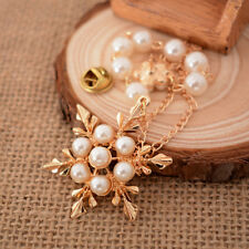 European Retro Luxury Pearls Flower Brooch Gifts for Women High Quality