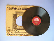 DISQUE VINYLE 78 TOURS 25 cm LA VOIX DE SON MAÎTRE - RICO' S CRÉOLE BAND - 1933