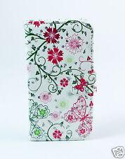 LG H502 magna Case Flip Tasche Hülle Blumen Schmetterling Strass