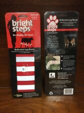 Reflective Leg Bands Pet Dogs Bright Steps Medium 45-80 lbs Lot of 2 Pkg Red