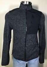 Champion Black Gray Winter Snow Full Zip Fleece Base Layer 1 Jacket Men's Small