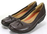 Clarks Women's Unstructured $90 Mary Jane Flats Size 10 Leather Brown