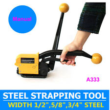 """New listing A333 Manual Sealless Combination Tool 1/2"""" 3/4"""" Steel Strap Banding Strapping"""