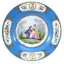 Antique Sevres 1844 Chateau Tuileries Hand Painted Fine Bone China Plate H648