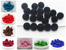 100 Velvet Acrylic Round Beads 10mm for Jewelry Making Choker necklace Tassel