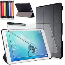 9H Panzerglas Folie+ Tasche f. Samsung Galaxy Tab S2 9,7 T810/T815 Etui Cover-3