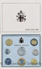 1999 Vaticano Serie divisionale FDC Papa Giovanni Paolo II 1000 Lire argento