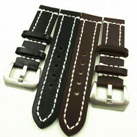 Mens Vintage Style Genuine Handmade Leather Watch Band Strap 18-24 MM