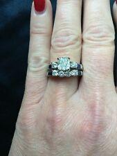 Authentic 2.25 Ct Cushion Cut Diamond Engagement Bridal Set F, SI2 EGL 14k