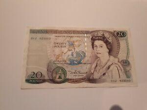 Old Bank Of England £20 Twenty Pound Note Shakespeare