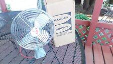 Vintage NOS Baader - Brown fan 24 volt DC 7200/8000 1024 motor