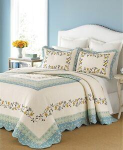 Martha Stewart STANDARD Pillow Sham Cotton Prairie House Sky BLUE 223