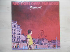 "John Watts Autogramm signed LP-Cover ""Fischer Z - Red Skies Over Paradise"" Vinyl"