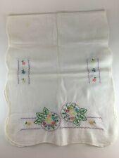 "Vintage table runner dresser scarf embroidered 15""x36"""