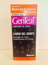 (1) GENTEAL Moderate To Severe Lubricant Gel Drops 25ml Eye Drops 8/31/2017