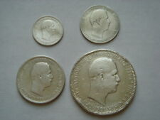 1901 CRETE 4 Silver Coins Set in Fine Condition.