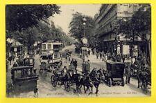 cpa 75 - PARIS Bd MONTMARTRE Carrefour DROUOT Ecrite en 1910 à Charles PAREIN