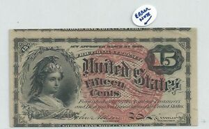 4th Issue Error Misalignment Red Seal 15 Cents US Fractional Note FR. 1267
