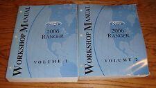 2006 Ford Ranger Truck Shop Service Manual Volume 1 & 2 Set 06