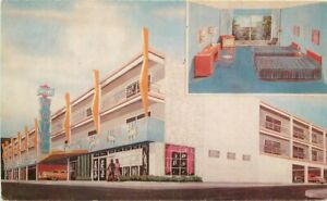 Atlantic City New Jersey Sorento Hotel Swimming Pool roadside Postcard 20-8308