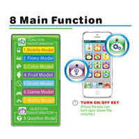 Baby English Learning Machine Music Light Touch Screen Mobile Phone Puzzle Toy