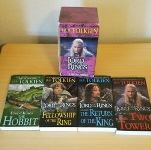 Del Rey Lord Of The Rings + The Hobbit Softcover 4 Book Series and Case Good