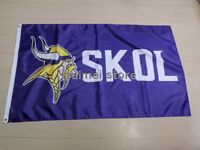 Minnesota Vikings SKOL NFL Football Team Huge 3x5 FLAG