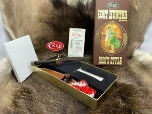 Case XX SS USA 1982 Pakawood Handle P62-4 1/2 Boot Hunter & Sheath Mint