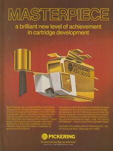 Pickering - XSV/5000 Phono Cartridge - Original Magazine AD -