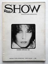 Show Fashion numero speciale 1975 Cover Roberto Rocco Inside M. R. Omaggio (GA)