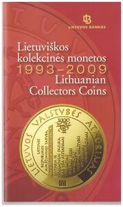 Bank of Lithuania official booklet 1993-2009 Lithuanian collectors coins