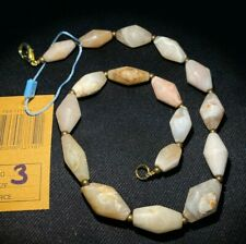 Ancient Indo-Tibetan natural agate beads necklace