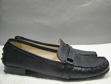 WOMENS 8.5 N TALBOTS BRAZIL LEATHER MOCCASIN DRIVING LOAFER BALLET FLATS SHOES