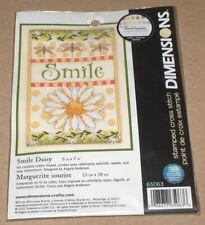 "New listing Dimensions ""Smile Daisy"" Dragonflies Stamped Cross Stitch Kit Nip 5x7"""