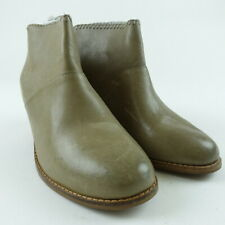 TOMS Women Size 6 Stone Burnished Leather Leila Ankle Booties